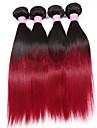 """3 pcs beaucoup 12 """"-28"""" bresilien 1b de cheveux vierges / bourgogne cheveux humains droite regroupe deux cheveux de tonalite"""