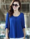 KVINNOR T-Shirts ( Bomull/Polyester Casual stil