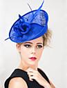 Dame/Blomsterpige Fjaer/Linfroe Headpiece Bryllup/Spesiell Leilighet/Utendoers fascinators Bryllup/Spesiell Leilighet/Utendoers 1 Deler