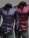 Lång ärm - Casual Skjortor ( Akryl/Organiskt Bomull/Konstsilke )till MÄN Skjortkrage - Casual/Arbete