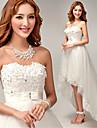 A-line Asymmetrical Wedding Dress - Sweetheart Tulle