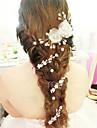 Bride\'s Flower Pearl Forehead Wedding Headdress 1 PC