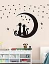 vägg klistermärken väggdekaler stil moon kattunge pvc väggdekorationer