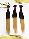 3pcs / lot brasilianisches reines Haar t-Farbe gerades Haar 100% Menschenhaarverlaengerung, brasilianische Haarwebart Bundles