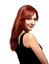 couleur de melange capless naturel perruque synthetique cheveux boucles longue de haute qualite avec bang cote