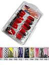 70 st halv täcka vackra franska akryl naglar tips 13 färger