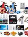 kit de tatouage complet 2 machines encres 4 couleurs