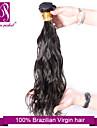 """1pcs / lot 12 """"-30"""" brasilianska jungfru hår kolsvart naturlig våg mänskliga hårförlängningar hår väver"""