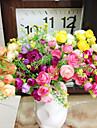 Gren Polyester Plast Camellia Bordsblomma Konstgjorda blommor