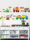 Bande dessinee Forme Transport Stickers muraux Stickers avion Stickers muraux decoratifs Materiel Lavable Amovible Decoration d\'interieur