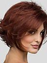 court synthetique perruques vague naturelle vin rouge perruque mode