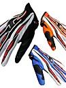 Gants de moto Doigt complet Nylon/Lycra M/L/XL Rouge/Noir/Bleu/Orange