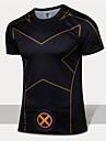 Löpning T-shirt / Kompressions Suit Herr Kort ärm Andningsfunktion / Snabb tork / Bärbar / Begränsar bakterier PolyesterSkidåkning /