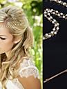 Mujer Aleacion Celada-Ocasion especial Casual Al Aire Libre Cadena para la Cabeza Clip de Pelo Pasador de Pelo 1 Pieza