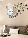 Modern Style Fashion Creative Peacock Diamond with Iron Mute Wall Clock