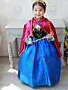 Costumes de Cosplay / Costume de Soiree Princesse Fete / Celebration Deguisement Halloween Bleu Mosaique Robe / ChaleHalloween / Noel /