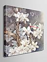 modern stil grå blommig väggklocka i canvas