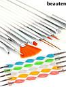 15pcs nail art pittura disegno pennarello pennello impostato con 5pcs 2 vie che punteggiano marbleizing strumento penna