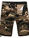 Bărbați Drept Simplu Activ Talie Medie,Micro-elastic Pantaloni Chinos Pantaloni Scurți Pantaloni camuflaj