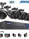 annke® 960H 8CH ecloud hdmi 1080p / vga / 4pcs de sortie BNC 900tvl cmos 42leds cameras jour / nuit IR-cut IP66