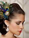 handgjorda bröllops fjäder hår fascinator stycken Fascinators 004
