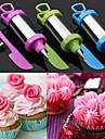 ensemble de 4 gateau stylo outil de bateaux de sucre de decoration mis embout de la buse de patisserie avec le racleur (couleur aleatoire)
