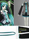 Inspire par Vocaloid Hatsune Miku Anime Costumes Cosplay Costumes Cosplay Mosaique Bleu Sans ManchesChemise / Jupe / Casque / Cravate /