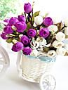 hög kvalitet konstgjord blomma ljusa färger rosebud silke blomma för bröllop och dekorativa