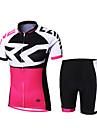 Cykeltröja med shorts Dam / Herr / Unisex Kort ärm CykelAndningsfunktion / Snabb tork / Dragkedja fram / Hög andningsförmåga (>15,001g) /