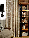 One Panel Yellow Jacquard Classic  Velvet  Curtain