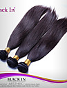 """3 st mycket 12 """"-30"""" brasilianska silkeslen raka inslag naturligt svart remy människohår väv trasselfri"""