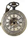 Bărbați Ceas de buzunar ceas mecanic Mecanism manual Gravură scobită Aliaj Bandă Luxos Bronz