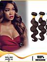 3pcs / lot cheveux humains vierges tisse les cheveux de vague de corps cheveux bresiliens trame regroupe brun chocolat cheveux humains