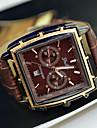 Bărbați Ceas de Mână Calendar Quartz PU Bandă Negru Maro