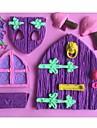 hus svampformad fondant tårta choklad silikon mögel mögel, dekoration verktyg bakeware