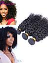 3pcs / lot 8 \'\' - 26\'\'brazilian jungfru hår naturligt svart färg kinky lockigt människohår väver