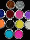 36pcs couleurs melangees petite delicate poudre nail art de paillettes ongles feuille d\'art bande poudre poudre arylic pour les
