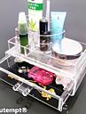 Sminkförvaring Makeup-låda / Sminkförvaring Plastic / Akrylfiber Enfärgat Kvadrat 18.5 x 11.5 x 11.6 Bisque