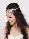 Dame / Blomsterpige Krystal / Imiteret Perle Medaljon-Bryllup / Speciel Lejlighed Pandebånd 1 Stykke