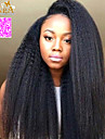 """8 """"-26"""" indian jungfru hår kiunky rakt limfria fullt spets peruk färg svart med baby hår för svarta kvinnor"""