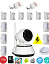 WIFI Intruder Home Alarm IP Camera Wireless Security System With 6 Door Sensor 5 Infrared Motion PIR 1 Smoke Detector