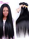3st lot brasilianska jungfru hår rakt mänskliga hårförlängningar naturligt svart hår väver