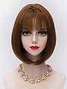 30cm kort rakt bobs hår med luft bang syntetisk harajuku lolita dam peruk