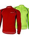NUCKILY® Maillot de Cyclisme Homme Manches longues Velo Respirable / Garder au chaud / Sechage rapide / Zip frontal / VestimentaireVeste