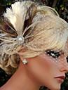 handgjorda bröllops fjäder hår klipp fascinator stycken Fascinators 028