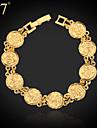 u7® das mulheres islam allah pulseira 18k verdadeiro ouro / platina revestida islamico presentes joias pulseira elo da cadeia