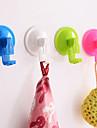 cintre forte bain crochets de cuisine sous vide de mur de ventouse amovible (couleur aleatoire)