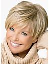 korta blond mix raka kvinnor fullständig peruk