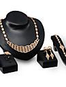 Ensemble de bijoux Imitation de diamant Style Punk Or Mariage Soiree Quotidien 1set1 Collier 1 Paire de Boucles d\'Oreille 1 Bracelet