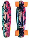 löv tryckt plast skateboard 22 tums mini cruiser med ABEC-9 kullager
